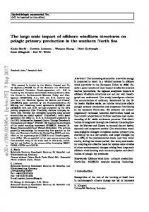 The large scale impact of offshore windfarm structures on pelagic ...