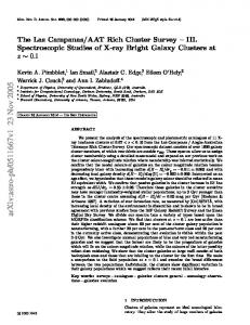 The Las Campanas/AAT Rich Cluster Survey III: Spectroscopic ...