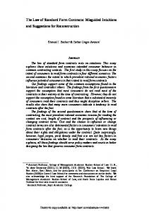 The Law of Standard Form Contracts: Misguided ... - SSRN papers