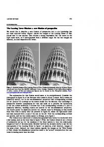 The Leaning Tower illusion - New virtual host at mcgill.ca