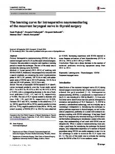 The learning curve for intraoperative neuromonitoring of the recurrent ...