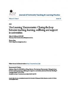 The Learning Thermometer: Closing the loop ... - Research Online