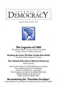 The Legacies of 1989 - Journal of Democracy