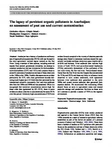 The legacy of persistent organic pollutants in Azerbaijan: an ...