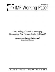 The Lending Channel in Emerging Economies - SSRN papers