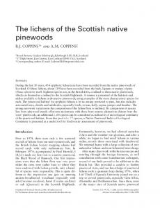 The lichens of the Scottish native pinewoods - Oxford Journals