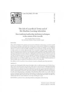 The Life of Lazarillo de Tormes and of His Machine ... - Parnaseo