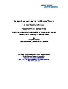 The Limits of Constitutionalism in the Muslim World - SSRN papers