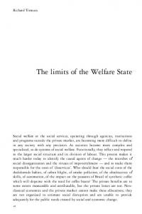 The limits of the Welfare State