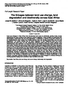The linkages between land use change, land degradation and ...