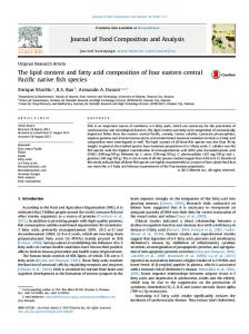 The lipid content and fatty acid composition of four ...
