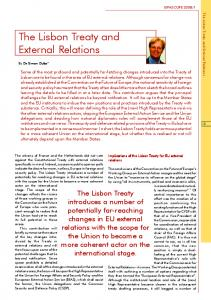 The Lisbon Treaty and External Relations - EIPA