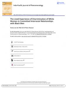 The Lived Experience of Discrimination of White