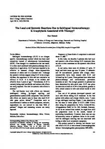 The Local and Systemic Reactions Due to ... - Semantic Scholar
