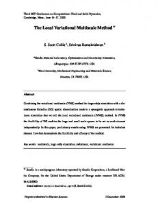 The Local Variational Multiscale Method *