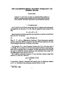 THE LOJASIEWICZ-SIMON GRADIENT INEQUALITY ON HILBERT ...