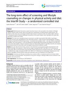 The long-term effect of screening and lifestyle ... - Springer Link