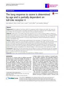 The lung response to ozone is determined by age ... - Semantic Scholar