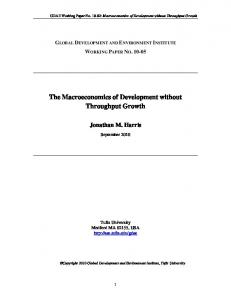 The Macroeconomics of Development without ... - AgEcon Search