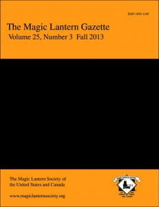 The Magic Lantern Gazette - SDSU Library