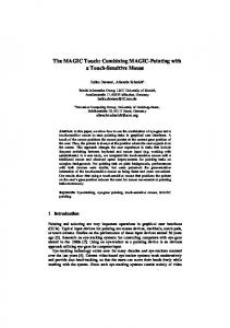 The MAGIC Touch: Combining MAGIC-Pointing with a ... - CiteSeerX
