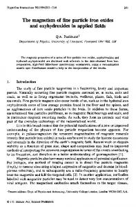 The magnetism of fine particle iron oxides and ... - Springer Link