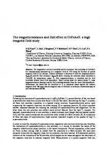 The magnetoresistance and Hall effect in CeFeAsO: a high magnetic ...