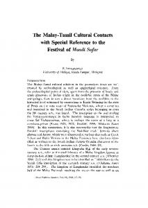 The Malay-Tamil Cultural Contacts with Special Reference to the ...