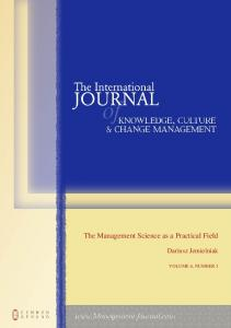 The Management Science as a Practical Field - Center for Research ...