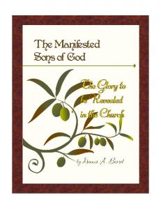the Manifested Sons of God (cont'd) - Dennis Beard Ministries