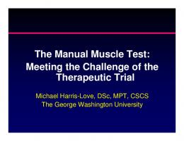 The Manual Muscle Test
