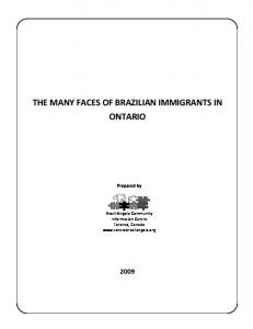 the many faces of brazilian immigrants in ontario - TSpace - University ...