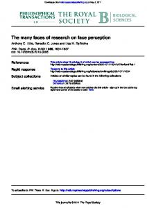 The many faces of research on face perception - CiteSeerX