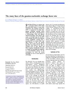 The many faces of the guanine-nucleotide exchange ... - CiteSeerX