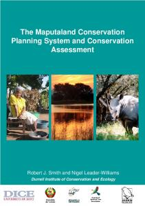 The Maputaland Conservation Planning System and Conservation ...