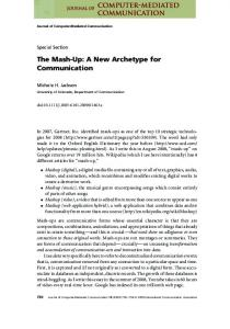 The Mash-Up: A New Archetype for ... - Wiley Online Library