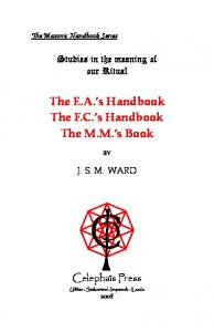 The Masonic Handbook Series - The Masonic Trowel