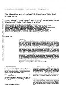 The Mass-Concentration-Redshift Relation of Cold Dark Matter Halos