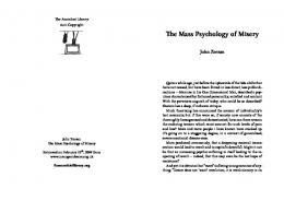 The Mass Psychology of Misery - The Anarchist Library