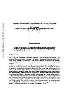 The Matter-Antimatter Asymmetry of the Universe