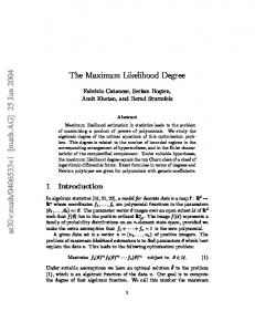 The Maximum Likelihood Degree