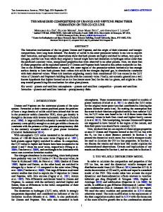 the measured compositions of uranus and neptune from ... - IOPscience