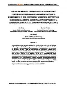 the measurement of information technology ... - Researchers World