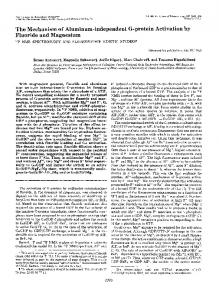 The Mechanism of Aluminum-independent G-protein Activation by ...