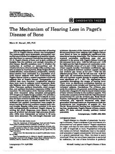 The Mechanism of Hearing Loss in Paget's ... - Wiley Online Library