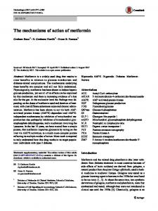 The mechanisms of action of metformin - Springer Link