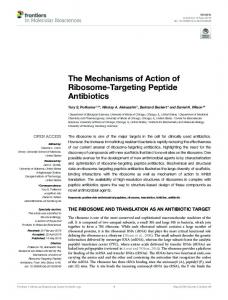 The Mechanisms of Action of Ribosome-Targeting