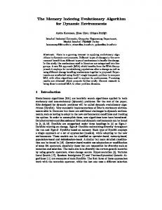 The Memory Indexing Evolutionary Algorithm for ...