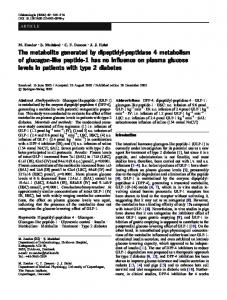 The metabolite generated by dipeptidyl-peptidase 4 metabolism of ...