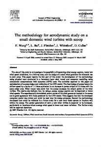 The methodology for aerodynamic study on a small domestic wind
